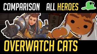 [Comparison] Overwatch but with Cats  ALL HEROES  'Katsuwatch' (UPDATED)