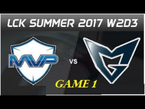 SSG Crown vs MVP Game 1 - EEW vs LZ , LCK Summer (2017) SSG vs MVP - EEW vs LZ |  LoL Esports