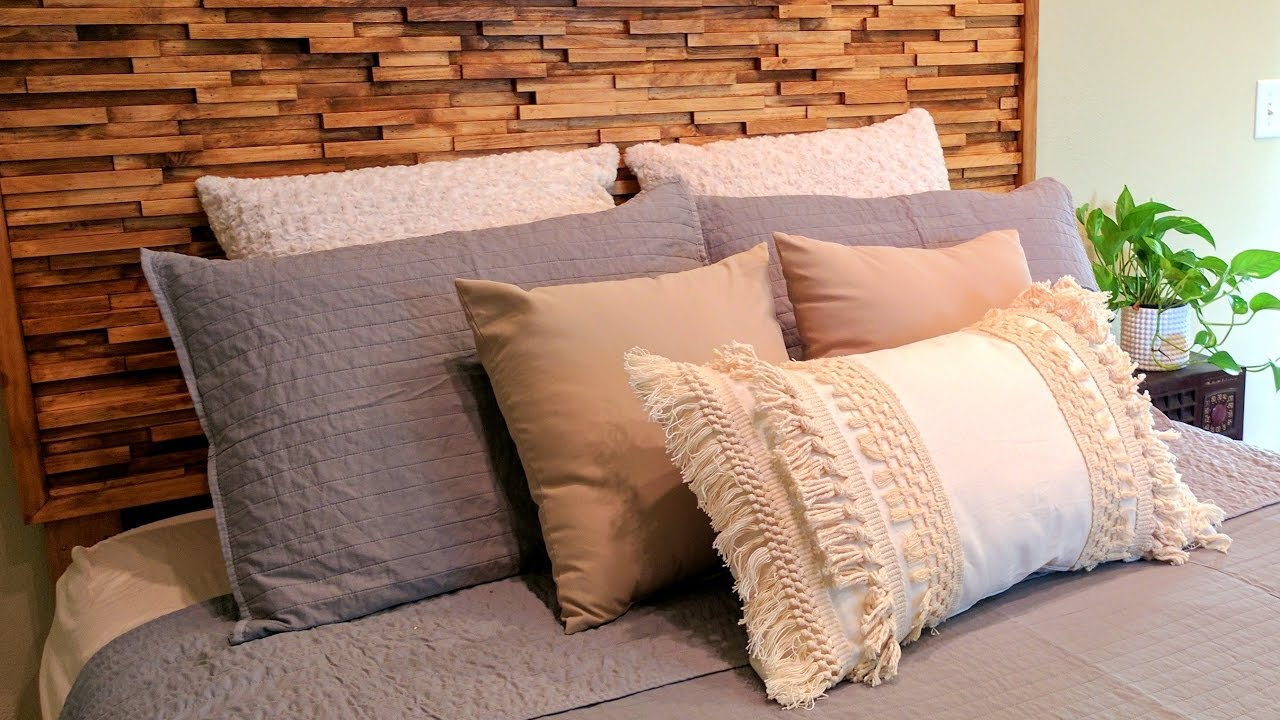 Building a diy modern wooden headboard unique reality for Modern headboard diy