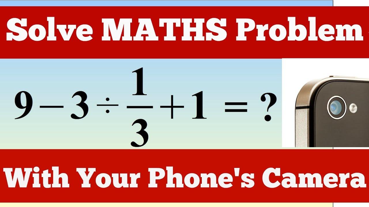 Math solver app - YouTube