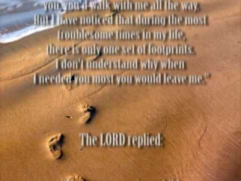 footprints in the sand (jesus carried you)
