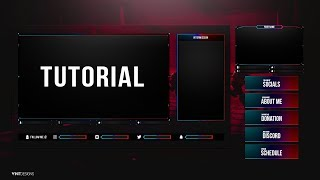 Free Animated Fortnite Twitch Live stream Overlay Template Tutorial