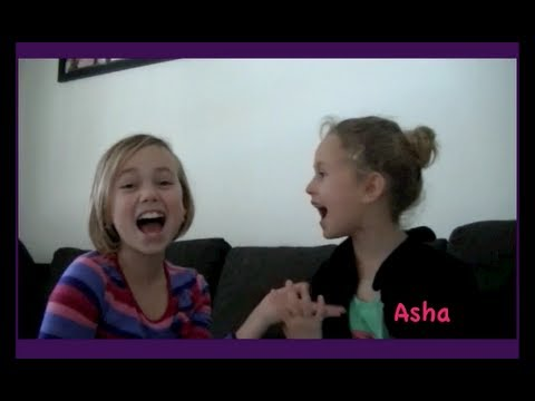 "Reese & Asha demonstrate ""My Boyfriend"" Funny Hand Clapping Game"