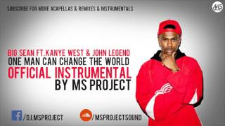 Video Big Sean  -One Man Can Change The World Official Instrumental Ft  Kanye West & John Legend + DL download MP3, 3GP, MP4, WEBM, AVI, FLV Juni 2018