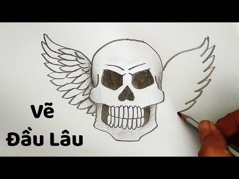 Vẽ Đầu Lâu bằng bút chì đơn giản – How to draw a Skullcap | Tất tần tật các nội dung liên quan hình vẽ đầu lâu xương chéo đúng nhất
