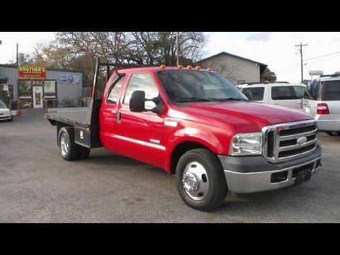 2006 Ford F350 Dually Super Duty XLT Flatbed Powerstroke Review - YouTube