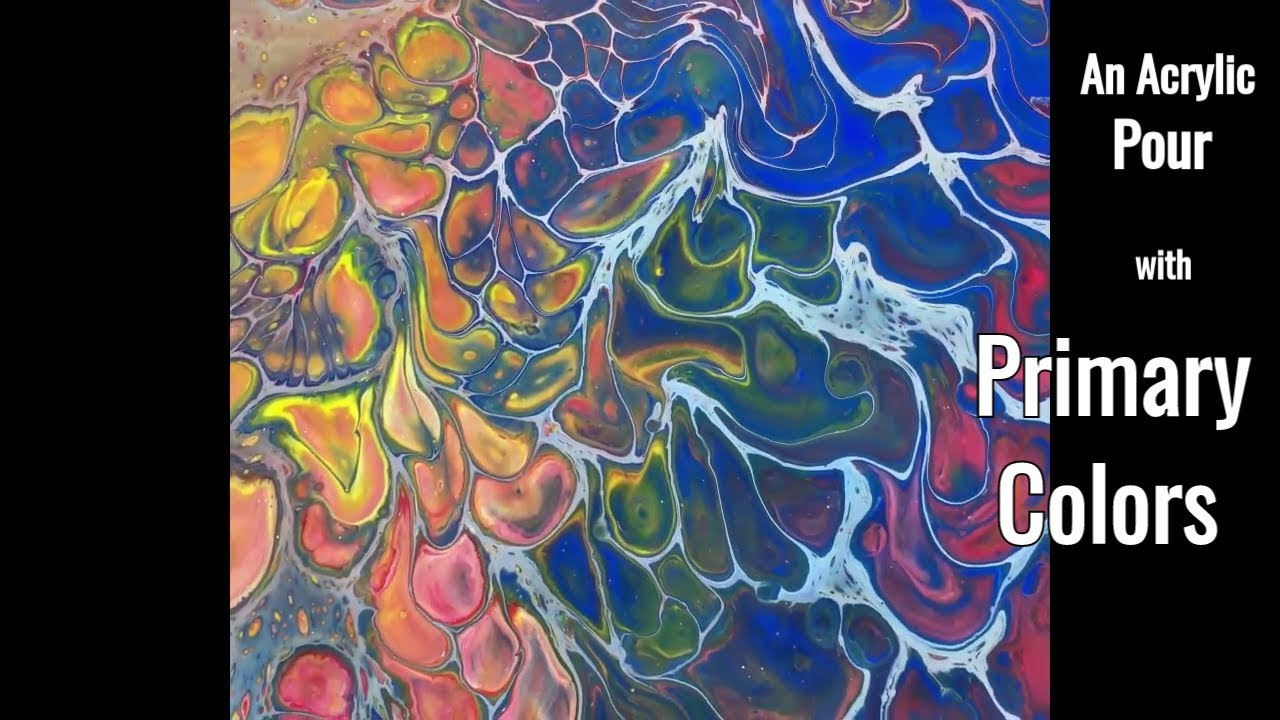 primary colors an acrylic pour youtube