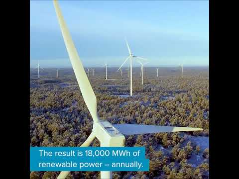 RE100 member top-finances new wind farm in Sweden through ECOHZ GO²