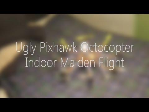My Ugly Pixhawk Octocopter: indoor maiden flight
