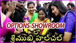 Anchor Sreemukhi In Options Mobile Showroom Inauguration @ Guntur
