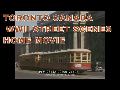 TORONTO CANADA WWII STREET SCENES HOME MOVIE 72672