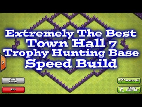 Clash Of Clans Best Town Hall 7 Trophy Base Speed Build Youtube