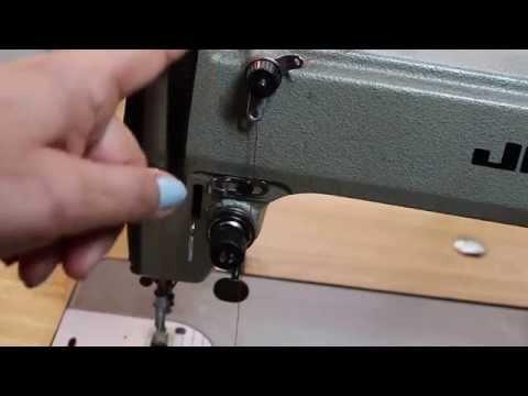 Threading Juki industrial single needle sewing machine (Top Thread)