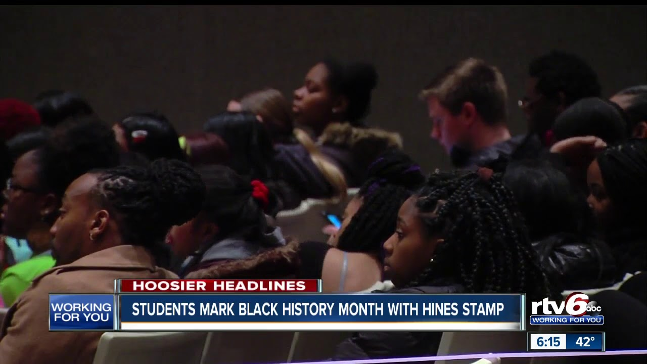 Students mark Black History Month with Hines stamp