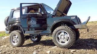 SUPER SCALE SAMURAI FIRST TEST! CAPO SIXER 1/6 Size Jimny | RC ADVENTURES