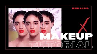 RED LIPS MAKE UP TUTORIAL