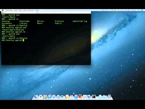 Using pwd, ls and cd in Terminal (Mac)