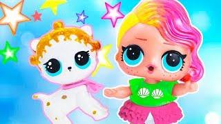 ПИТОМЕЦ ДЛЯ КУКЛЫ ЛОЛ КРАСИМ СВОИМИ РУКАМИ! Мультик #ЛОЛ СЮРПРИЗ Школа Куклы Игрушки Для девочек