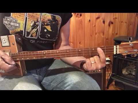 Three little birds the Reggae rythym lesson for 3 string Cigar Box Guitars