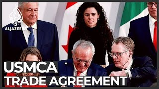 US, Canada and Mexico sign trade pact to replace NAFTA Video