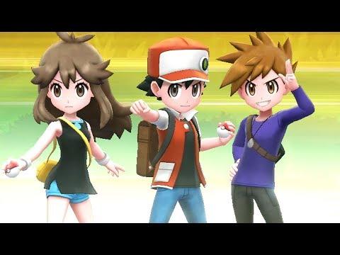 Pokémon Lets Go Pikachu & Eevee  Champion Red, Green & Blue Battle