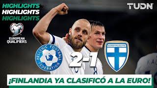 Highlights | Grecia 2 - 1 Finlandia | UEFA EURO Qualifiers - G-J -J10 | TUDN