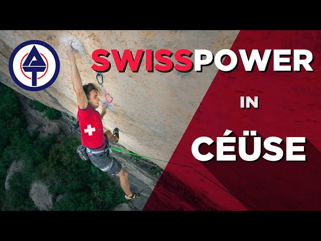 Swisspower in Céüse // Swiss climbers clear up in France