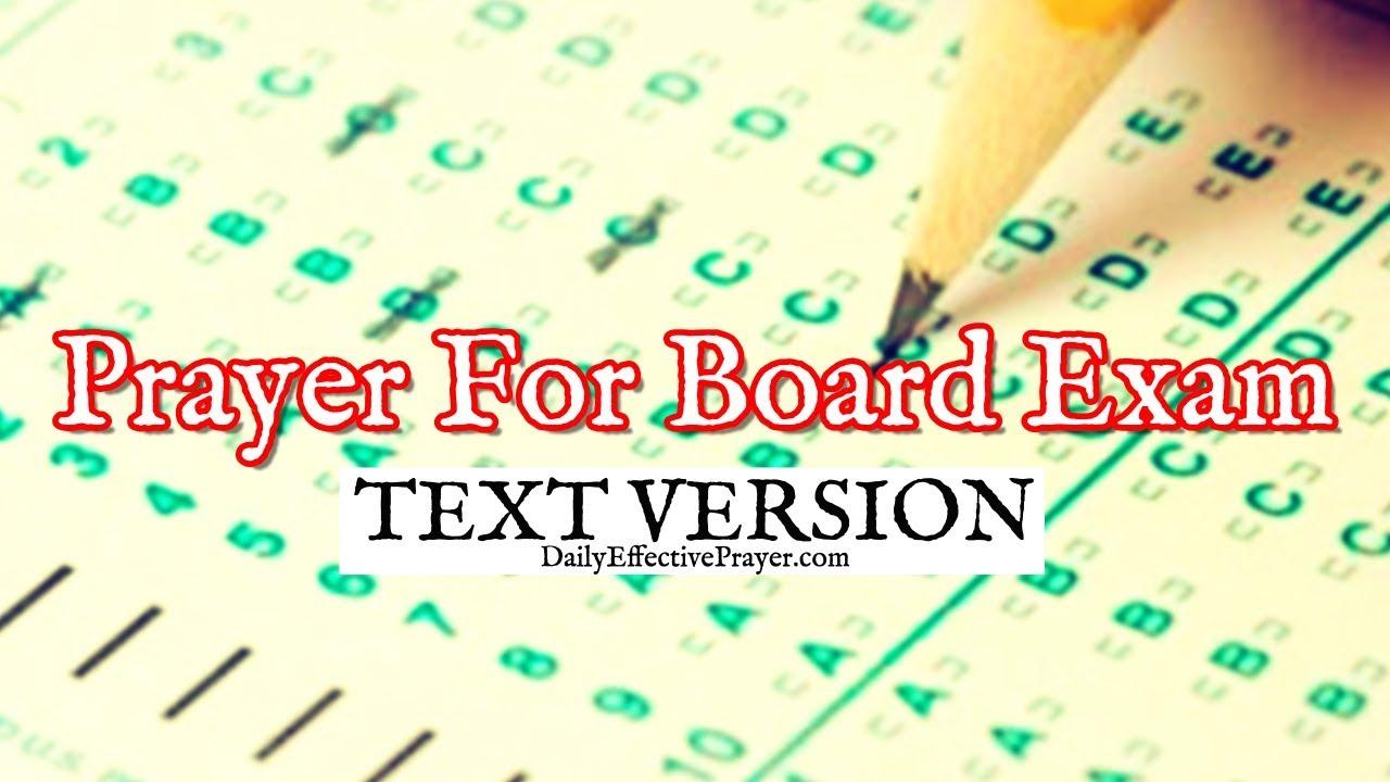 Prayer To Pass Board Exam (Text Version - No Sound)