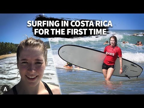 Surfing For The First Time In Costa Rica | Lapoint 2019