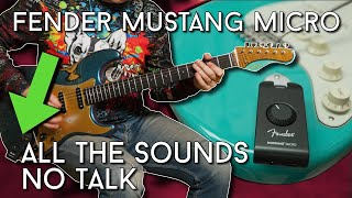 Fender Mustang Micro - ALL Sounds - NO Talk