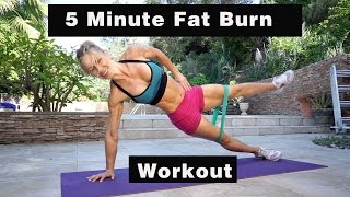 5 Minute Fat Burning Workout #123 - UPPER BODY & ABS