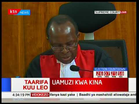 Justice Ojwang gives his full judgment on the presidential petition