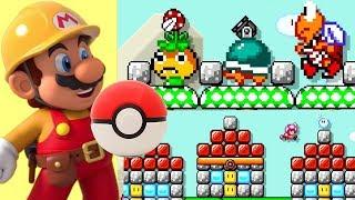 Super Mario Maker 2: INSANE POKEMON LEVEL - A Pokemon's Journey!