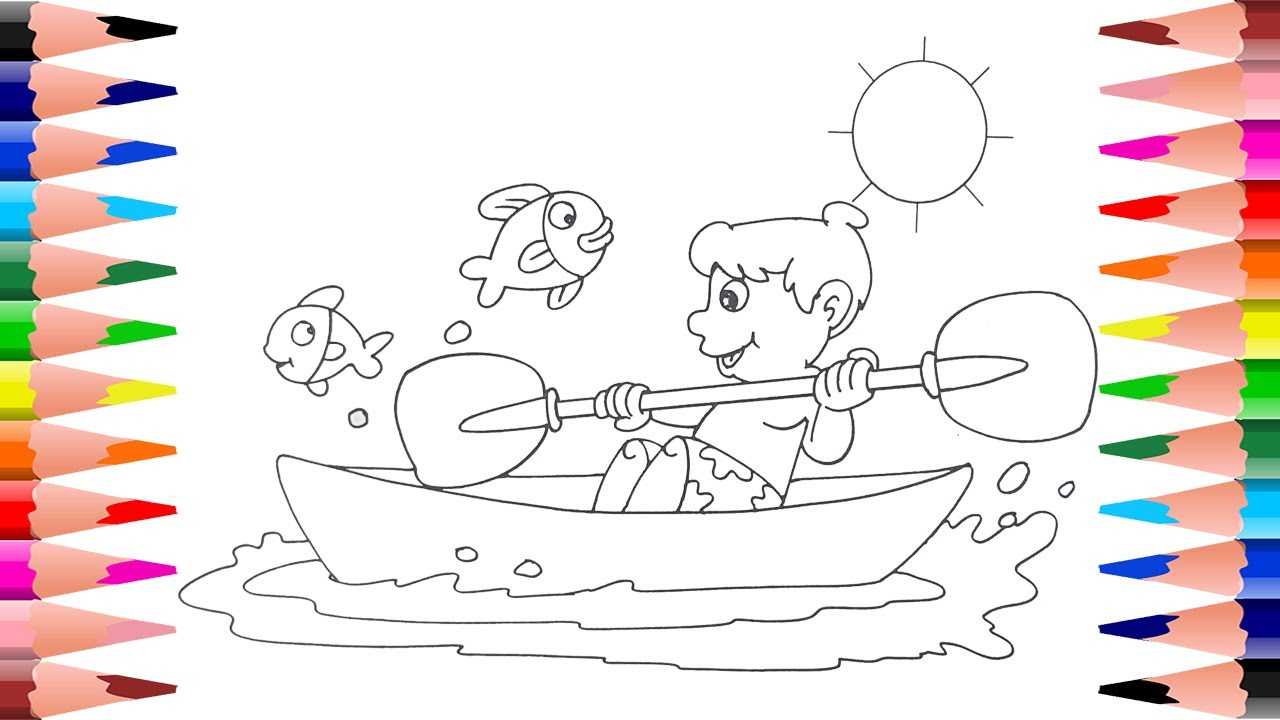 Painting Summer for Kids - Coloring Fun Summer Times Coloring Book