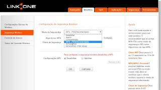 como configurar roteador de wi-fi LinkOne