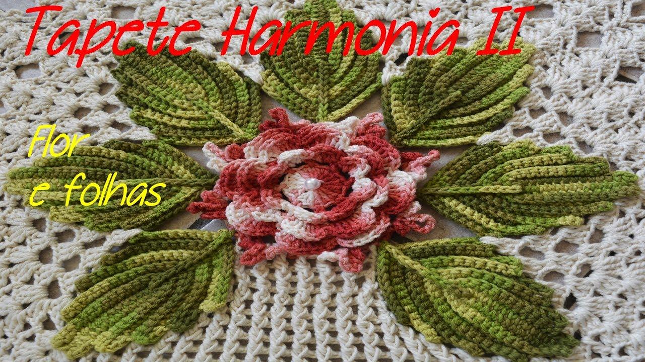 Preferência JOGO DE BANHEIRO DE CROCHÊ HARMONIA II 1/4 ( FLOR E FOLHAS ) - YouTube BU68