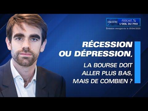 Récession ou dépression, la bourse doit aller plus bas, mais de combien ?