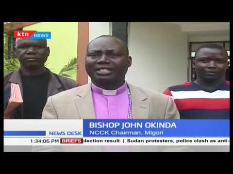 Bishop Okinda  NCCK chair, has asked Kenyans not to drive religion in the war against terror
