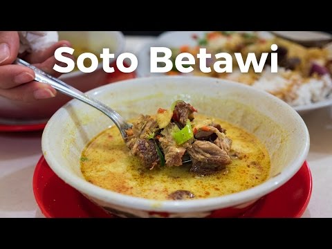 Soto Betawi: AMAZING Indonesian Food You Have to Eat in Jakarta, Indonesia!