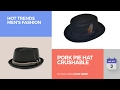 Pork Pie Hat Crushable Hot Trends Men's Fashion