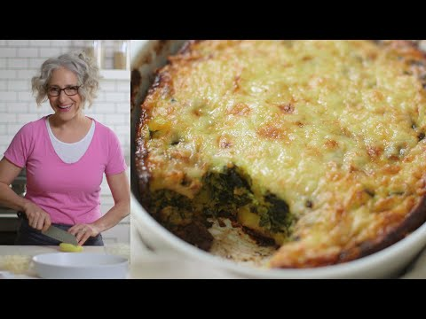 Cheesy Spinach-Potato Egg Casserole Everyday Food with Sarah Carey