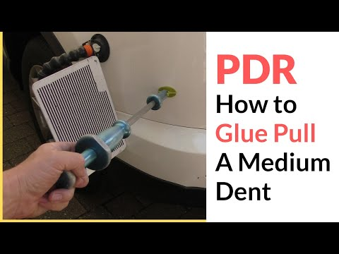 How To Glue Pull A Large Dent Tutorial Using Paintless Dent Removal