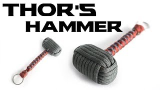 How To Make A Paracord Thor's Hammer Key Chain | Paracord Mjolnir Tutorial
