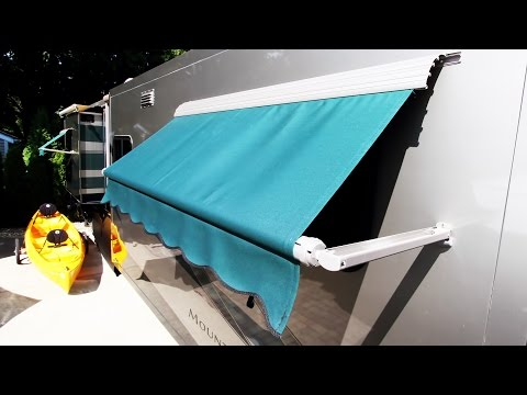 How To Install an RV Window Awning (A&E / Dometic)