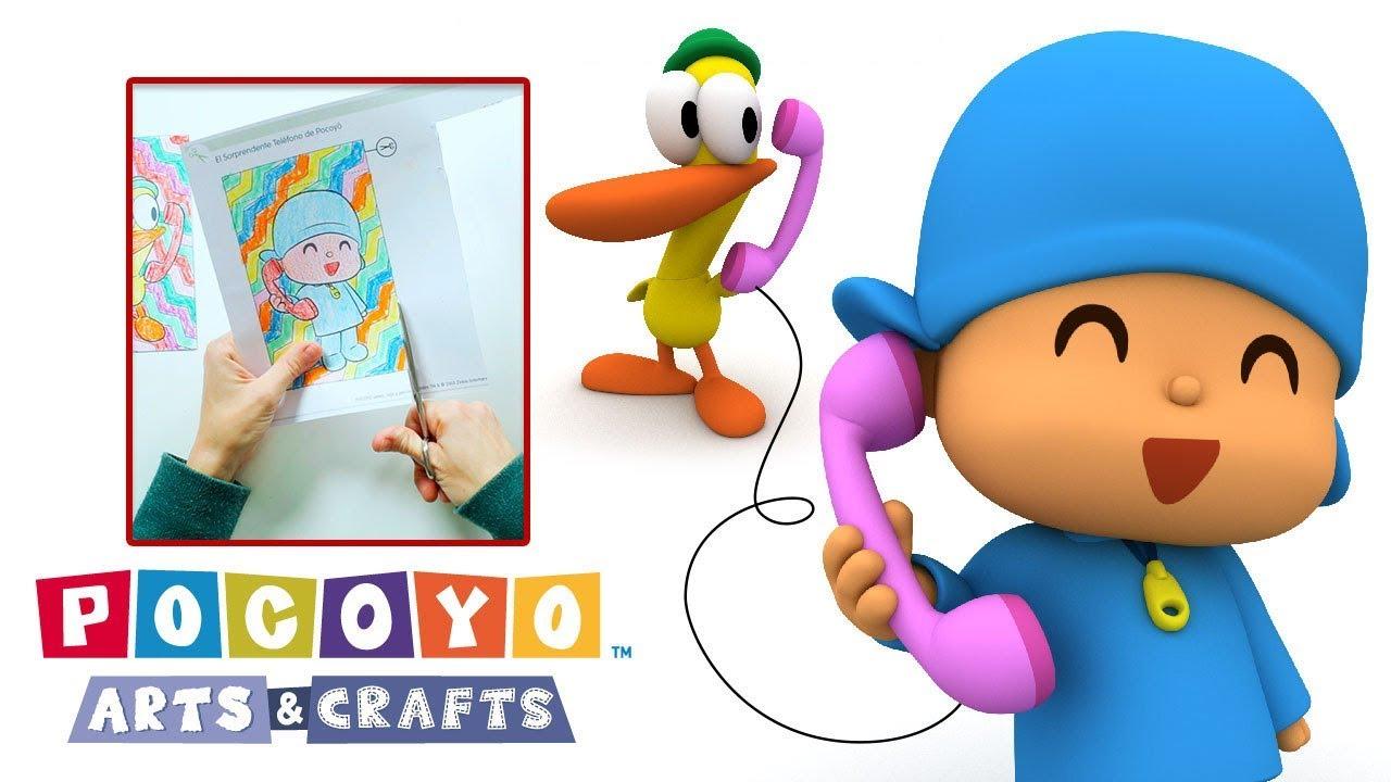 Pocoyo Arts Crafts Pocoyo S Amazing Phone Children S Day Youtube