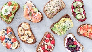 10 Easy and Healthy Breakfast Recipes! Toast 10 Ways