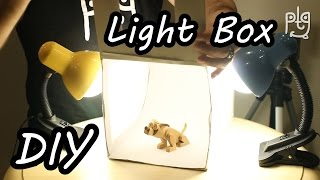 DIY Light Box - How To Make White Box for close-up photos - Build LightBox