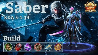 Mobile Legends: Saber MVP, Assassin Build With A Touch Of Tanky!