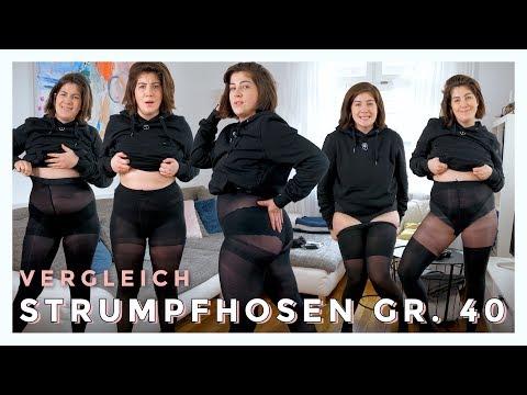 STRUMPFHOSEN GRÖßE 40 LIVE TEST | Teuer Vs. Günstig | #kleinundkurvig