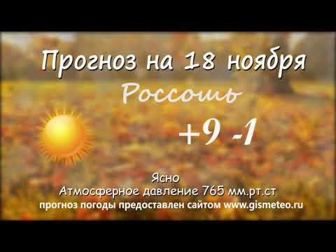 Прогноз погоды на 18.11.2019, Блокнот Россоши